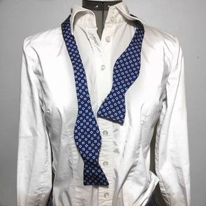 NEW Banana Republic Blue Floral Silk Bow Tie